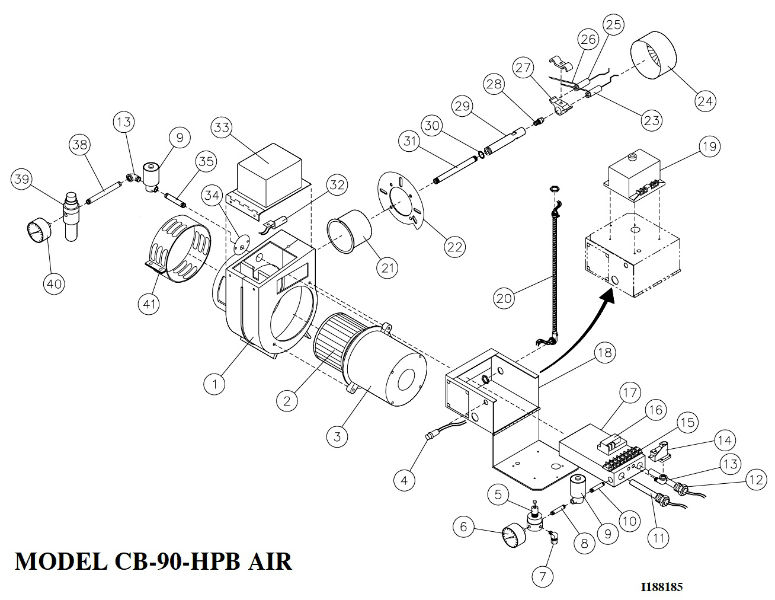 parts breakdown for cb-90-hpb air  cleanburn