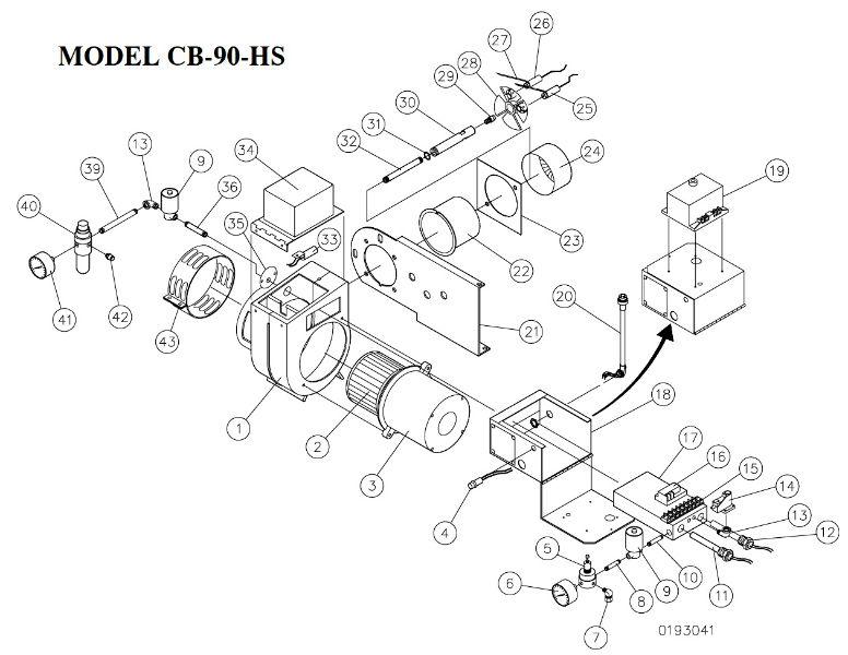 parts breakdown for cb-90-hs burner  cleanburn