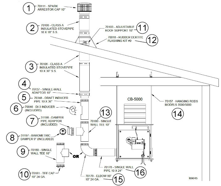 Parts Breakdown For Chimney Components 10 Quot Through The