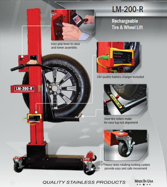 Tool Lift Assist : Wheel lift battery powered automotive equipment
