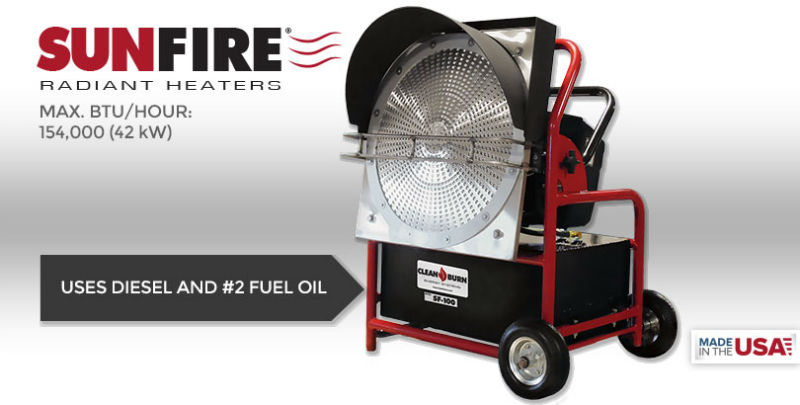 Sunfire Radiant Heater by Cleanburn